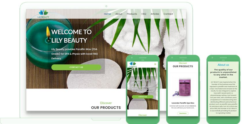 lily beauty Web Design in Toronto by WebValue Agency